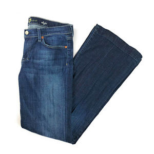 7 For All Mankind Dojo Flare Trouser Jeans Sz 30